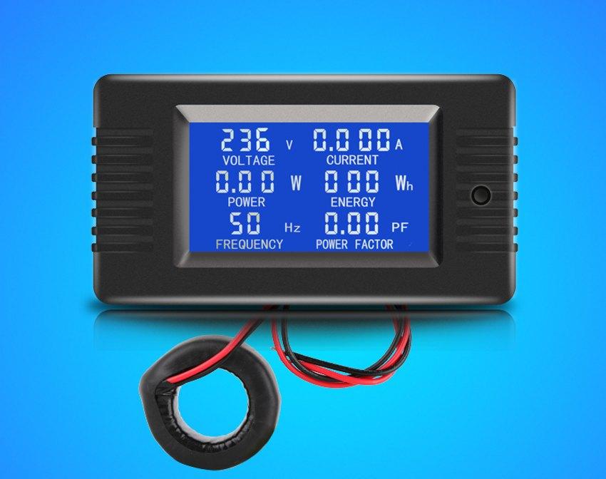 AC 80V ~ 260V 100A цифровой измеритель напряжения тока ватт кВтч мощность энергии Вольтметр Амперметр