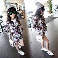 High Quality Fashion Girls Clothing Sets Lady Style Sweatshirt Shorts 2pcs Spring Autumn Baby Girls Clothes