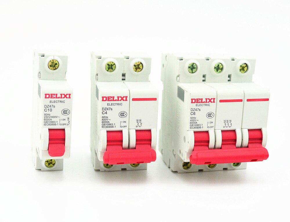 Miniature Circuit Breaker DZ47S DELIXI MCB  1Pole 2Pole 3Pole