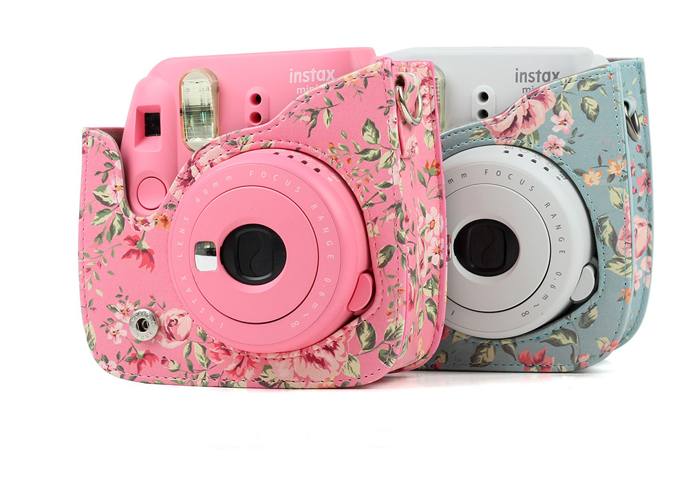 Floral print case for fujifilm instax mini for Housse instax mini 9