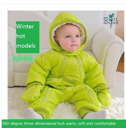 a04346366b79 Baby Coverall clothing thick warm fall and winter clothes newborn ...