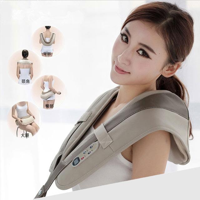 Elétrica Shiatsu back massageador 3D amassar vibração Massager ombro congelado ombro alívio da dor o melhor presente 220 - 240 V