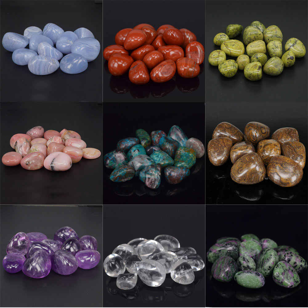 Tumbled Stones Natural Gemstone Supplies for Quartz Crystal Reiki Healing Wicca Energy Home Decor Ornament 200g