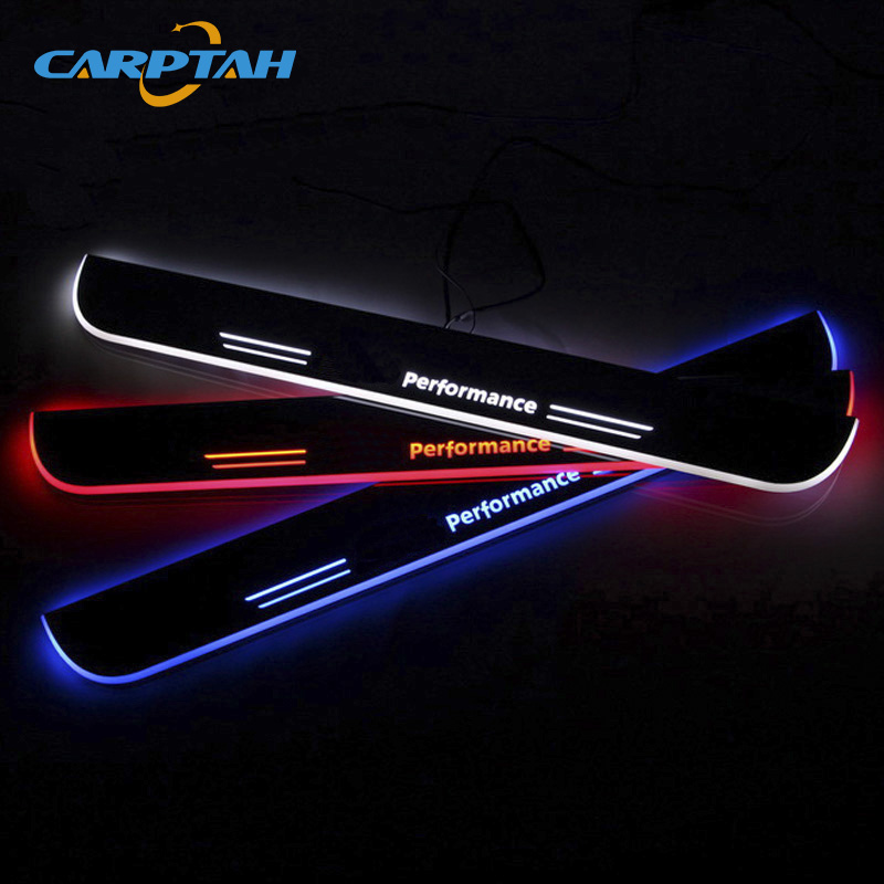 CARPTAH Trim Pedal Car Exterior Parts LED Door Sill Scuff Plate Pathway Dynamic Streamer light For BMW F30 F35 320 325 330 335 цены