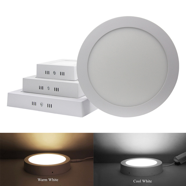 Us 5 02 33 Off 25w Square Round Thin Wall Surface Mount Ceiling Led Light Lamp Smd 2835 Downlight Fashion Brief 110v 220v Led Drive In Downlights
