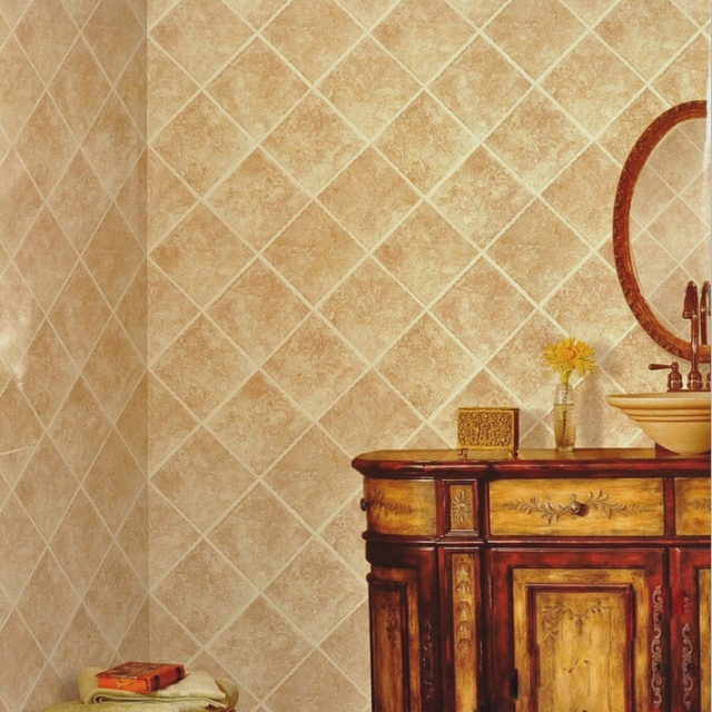 3d Papel De Parede Chinese Style Vinyl Wallpaper Rolls Ceramic Tile Wallpaper Rhombus Marble Wall Paper For Kitchen Room In Wallpapers From Home