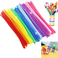 100pcs/lot 30CM Chenille Stems Pipe Cleaners Kids Toys DIY Handicraft Materials For Creative Kids Educational Toys