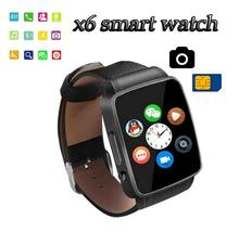 Silver and Gold Color X6 Smart Watch with SIM Card Sport Bluetooth Smart Clock in Stock for Android HTC HUAWEI LG IOS PK gt08