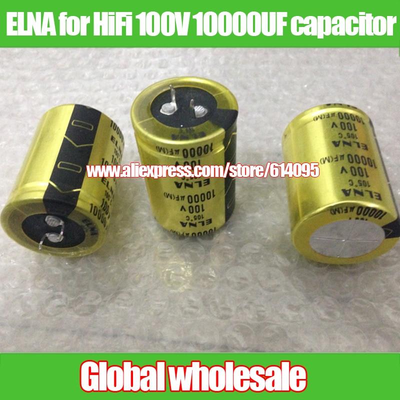 Capacitor 6800uF 100V Electrolytic radial Capacitor DIP NEW 5pcs free shipping