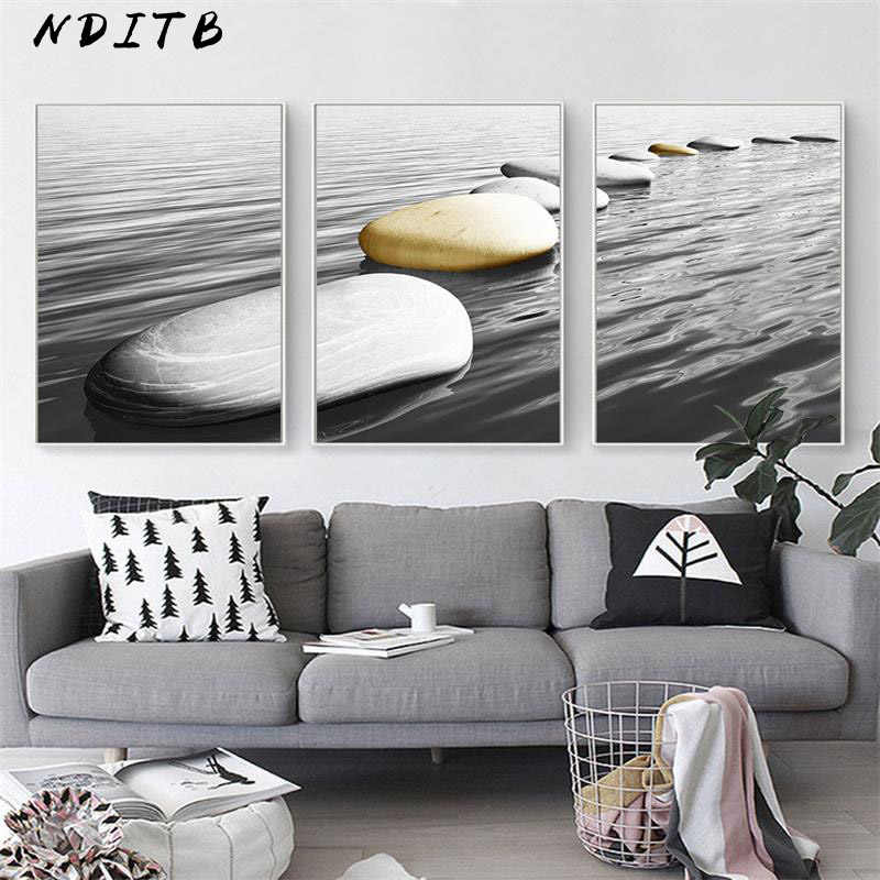 Zen Stone Buddhism Wall Art Canvas Poster Meditation Print Abstract Painting Minimalist Nordic Decoration Picture Home Decor