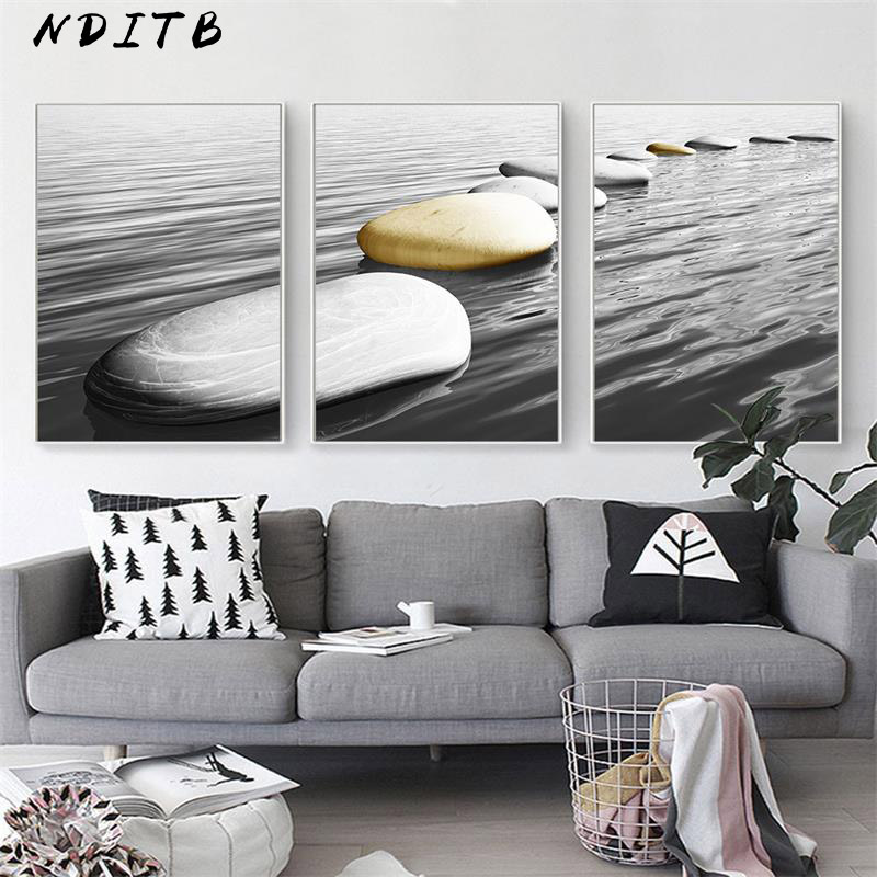 Zen Stone Buddhism Wall Art Canvas Poster Meditation Print Abstract Painting Minimalist Nordic Decoration Picture Home Decor in Painting Calligraphy from Home Garden