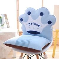 Cartoon sleep bear plush toys learning sitting baby seat child home soft kids Crown plush Cushion pillow