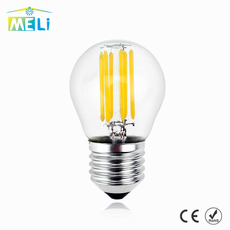 Lampada E27 LED Filament Light Dimmable Glass Blub Lamps 220V LED Edison chandelier E14 G45 240V Vintage Led Bulb 4W 8W 12W