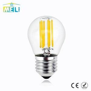 Lampada E27 LED Filament Light Dimmable Glass Blub Lamps 220V LED Edison chandelier E14 G45 240V Vintage Led Bulb 4W 8W 12W(China)