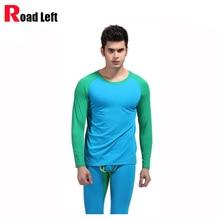 9 Colors Size M/L/XL Man Modal Thermal Underwear Set Autumn Basic Warm Undershirt Top And Men Long Johns Leggings Sleepwear Suit