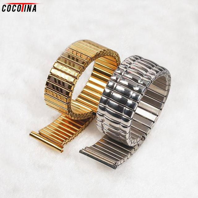 10 12 14 16 18 20 MM Stretch Expansion Stainless Steel Parts Watch Band Strap Si