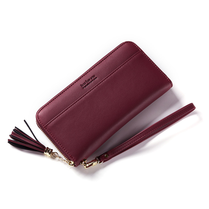 Fashion Brand Pu Leather Wallet Female Coin Pocket Purses Vintage Tassel Women Wallets Credit Card Clutch Phone Wallet Gift