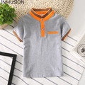 INMUSION Boy clothing 2017 summer children's tops lap brand classic children's tees cotton monochrome kids boy girl Polo shirt
