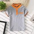 Inmusion boy clothing 2017 niños del verano tops lap brand classic camisetas de los niños de algodón blanco y negro niños niño niña polo camisa