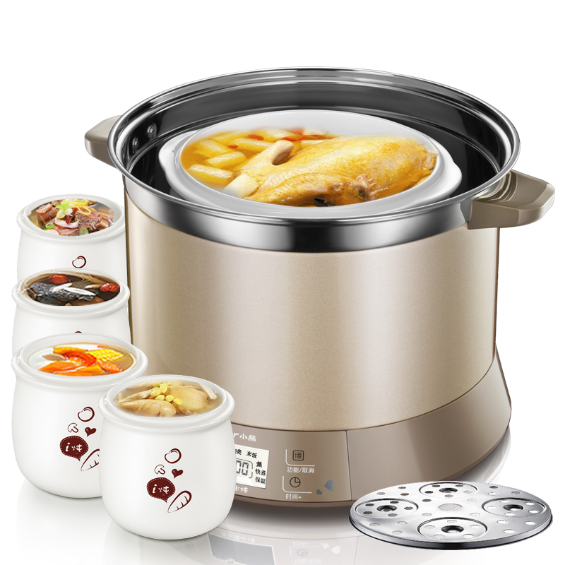 22%,stainless Steel Electric Stew Pot 3.5l 600w Microcomputer Control Electric Slow Cooker With 5 Pots Reservation Timing Good Reputation Over The World
