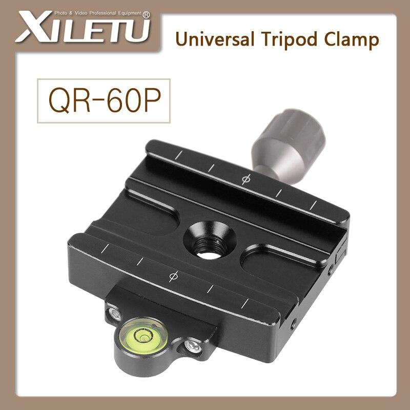 XILETU QR-60P Camera Tripod Monopod Clamp Adapter Quick Release Clamp For Manfrotto Gitzo RRS ARCA-SWISS SIRUI Clampseat