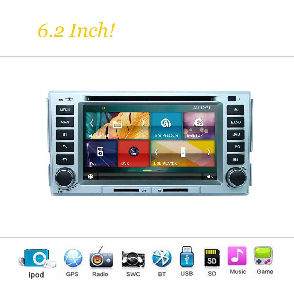 Wince Sistema de coches Reproductor de DVD Para Hyundai Santa Fe 2008 ~ 2010 Aut