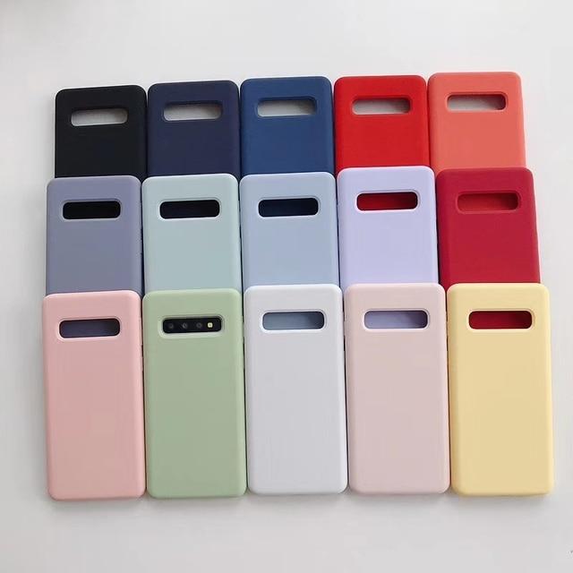 Hot Original Case for Samsung Galaxy S10 Plus S10e Case Liquid Silicone Soft Baby-Skin Feeling for Samsung S10 Phone Cover Coque