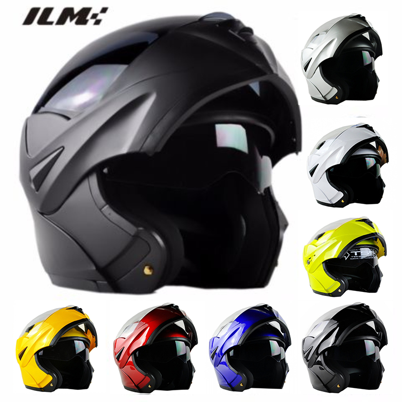 ILM Motorcycle Molular Flip Up Helmet with Inner Sun Visors &Removable Inner Pads Racing Moto Capacete Casque 8 Colors From S-XL 1000m motorcycle helmet intercom bt s2 waterproof for wired wireless helmet
