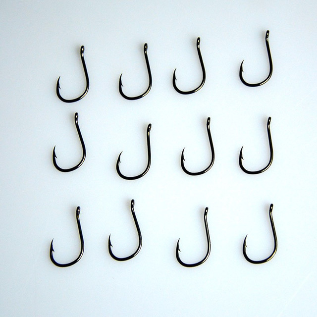 Steel Fish Hook Barbed 30PCS 3#-12# Series In Fly Fishhooks