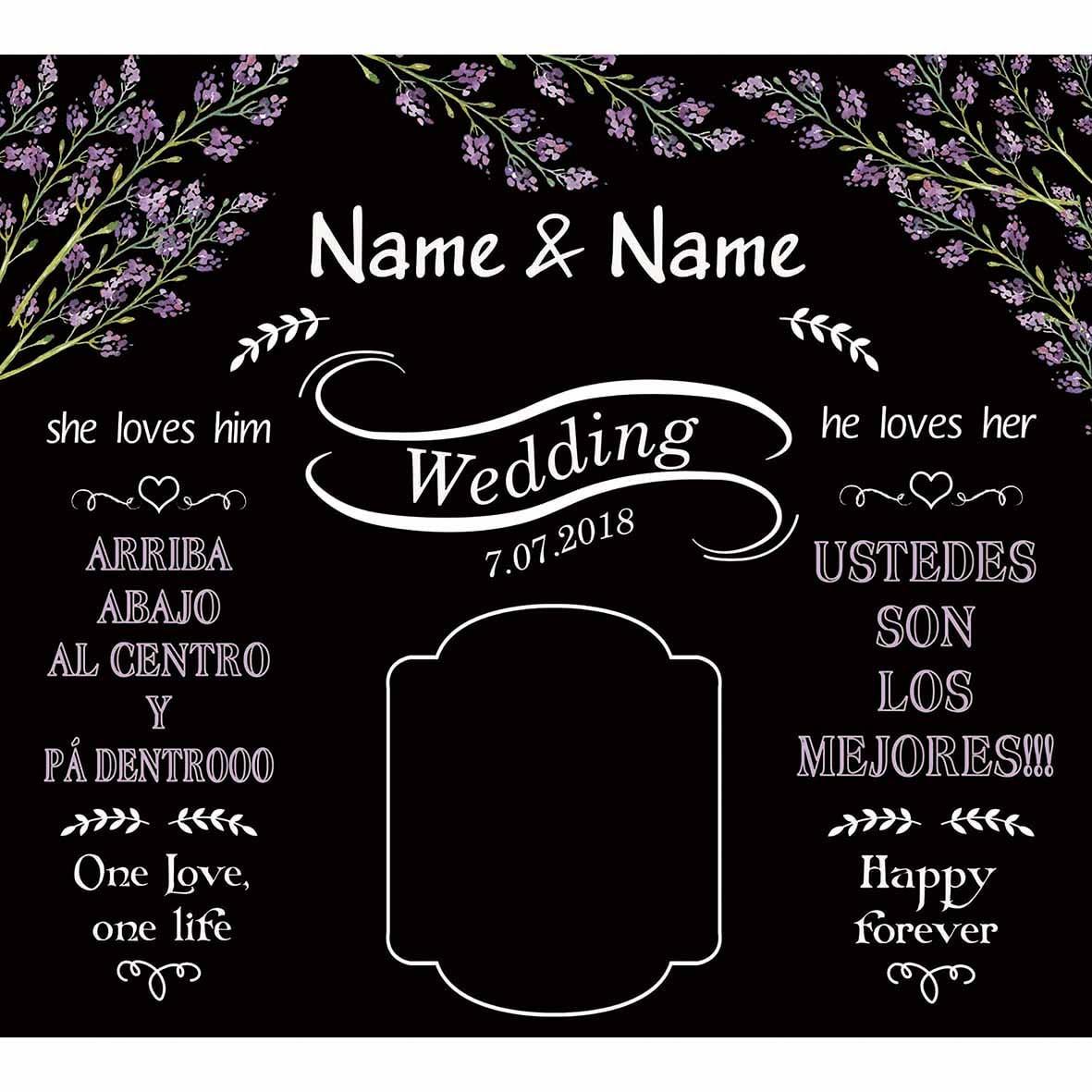 Us 9 86 29 Off Funnytree Photography Backdrop Photocall Custom Wedding Black White Lavender Hearts Romantic Celebration Photographer Background In