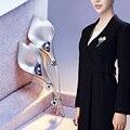 Модная Кубического циркония Цветок Брошь Pin Женщин Аксессуары для Одежды Ювелирные Изделия Брошь Pin-Горный Хрусталь Свадебные Аксессуары