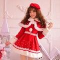 Принцесса сладкий лолита пальто Candy rain оригинальный новый год Рождество Японский стиль Симпатичные принцесса перл красный плащ пальто C15CD5881