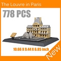 The Louvre Paris 3D Model Building Blocks Architecture Creator Series Classic Compatible Legoed House Toys