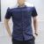 TAMANHO grande dos homens Patchwork Camisas De Manga Curta 2016 Algodão Verão Camisa Dos Homens Casuais ALÉM de Roupas Camisa CS816 3XL-8XL