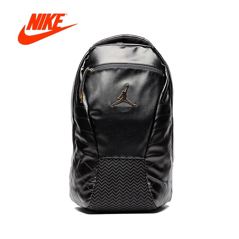 Original Nouvelle Arrivée Authentique Nike Air Jordan 12 AJ12 Noir Or de Sacs À Dos Hommes et Femmes D'épaule de Sacs de Sport sacs 9A1773-429