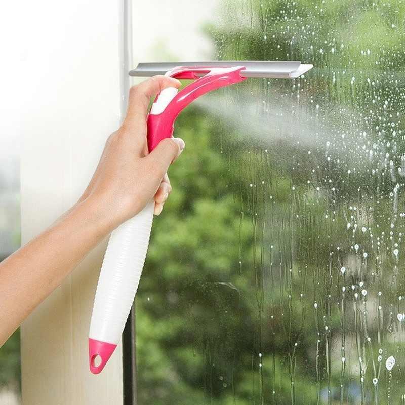 حار! متعددة الوظائف مريحة الزجاج الأنظف ماجيك رذاذ نوع تنظيف فرشاة مساعد جيد أن غسل نوافذ السيارة