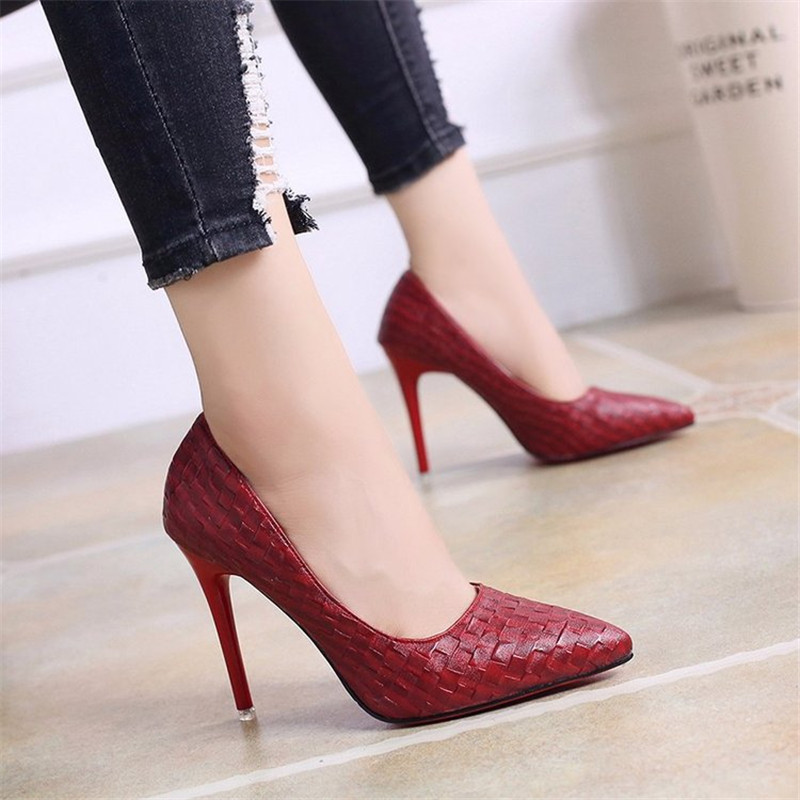 2019 New Fashion Woman Shoes Snake Party Wedding Shoes Big Size 34-40 Sexy Pointed Toe High Heels Pumps Women Shoes