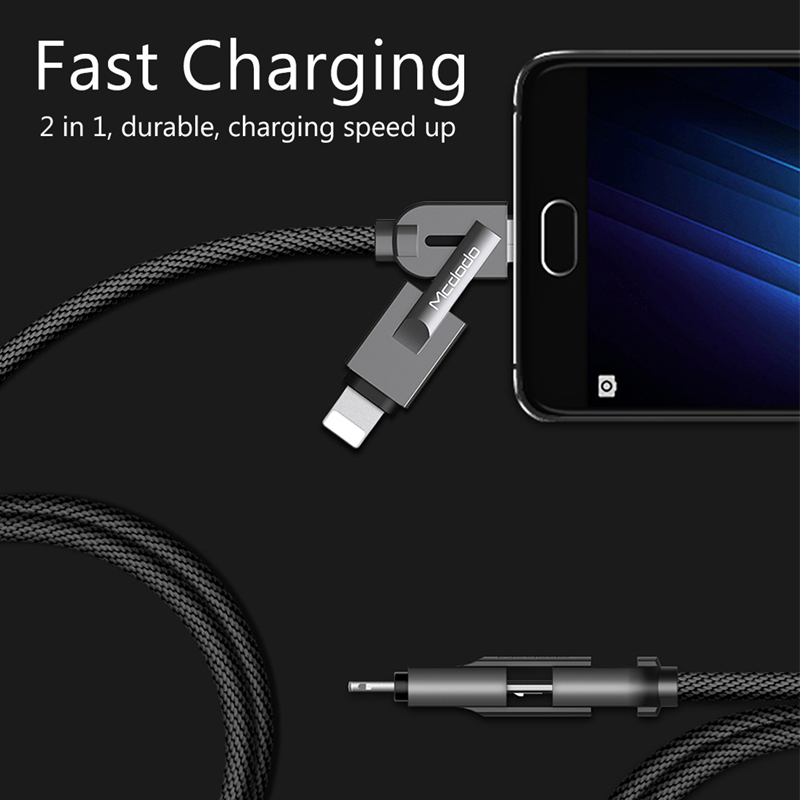 Mcdodo 2 In 1 Micro Usb Lightning Charging Data Cable For