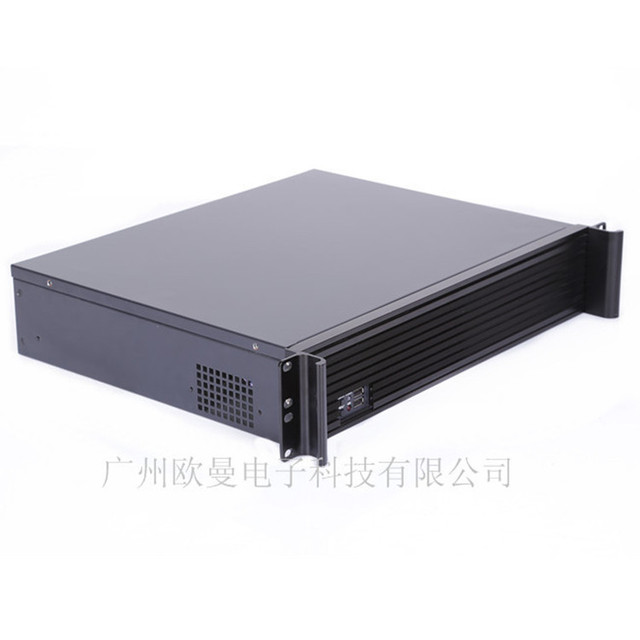 Direct 2U panel high-grade aluminum chassis routing software firewall PC power supply