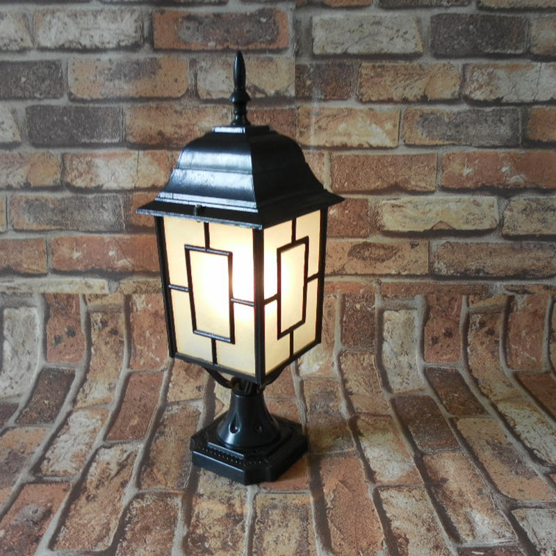 Outdoor column courtyard wall lamp post villa exterior wall lamp vintage lamp waterproof lamp led outdoor lighting LU8141400 outdoor small column courtyard wall lamp post villa exterior wall lamp lu8141400