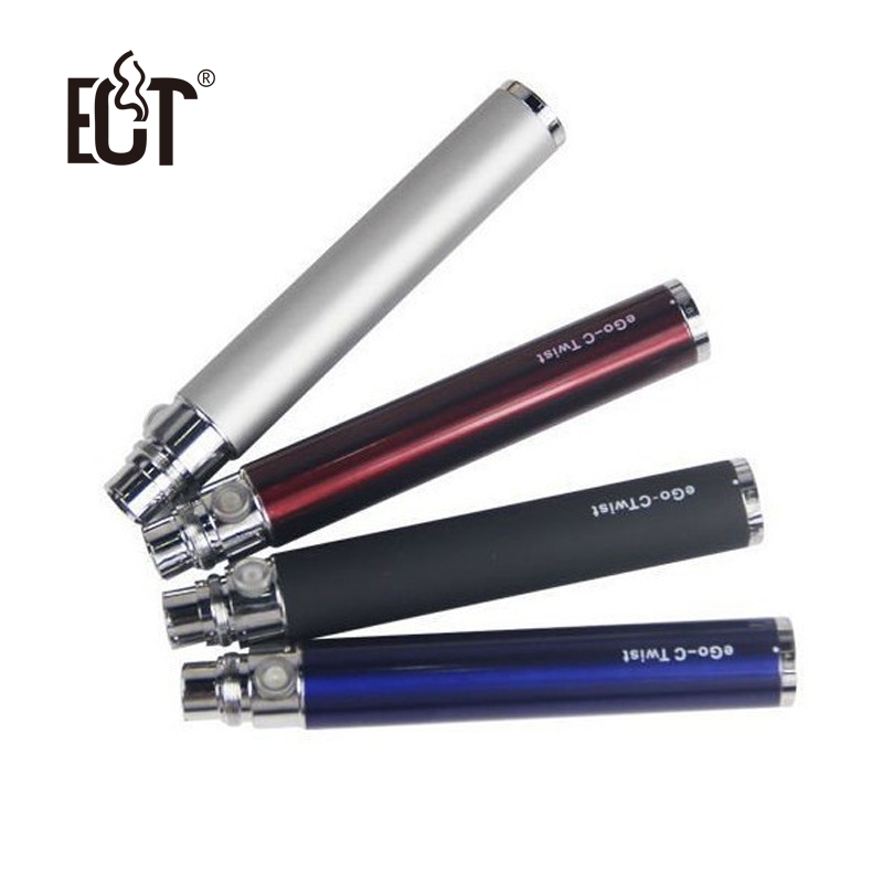 Good Quality Ego C Twist Electronic Cigarette Battery Adjustable Variable Volatage 3.2-4.8V For E Cigarettes 900 1100 1300 mah