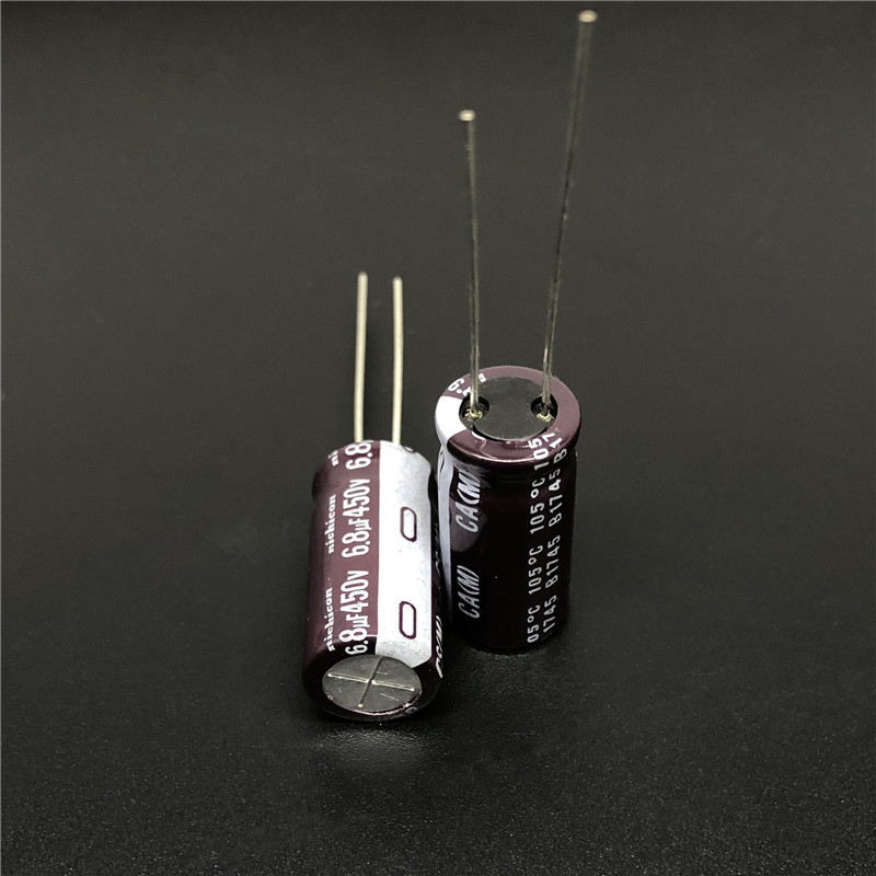 10pcs/100pcs 6.8uF 450V Japan NICHICON CA Series 10x20mm High Ripple Current Long Life 450V6.8uF Aluminum Electrolytic Capacitor