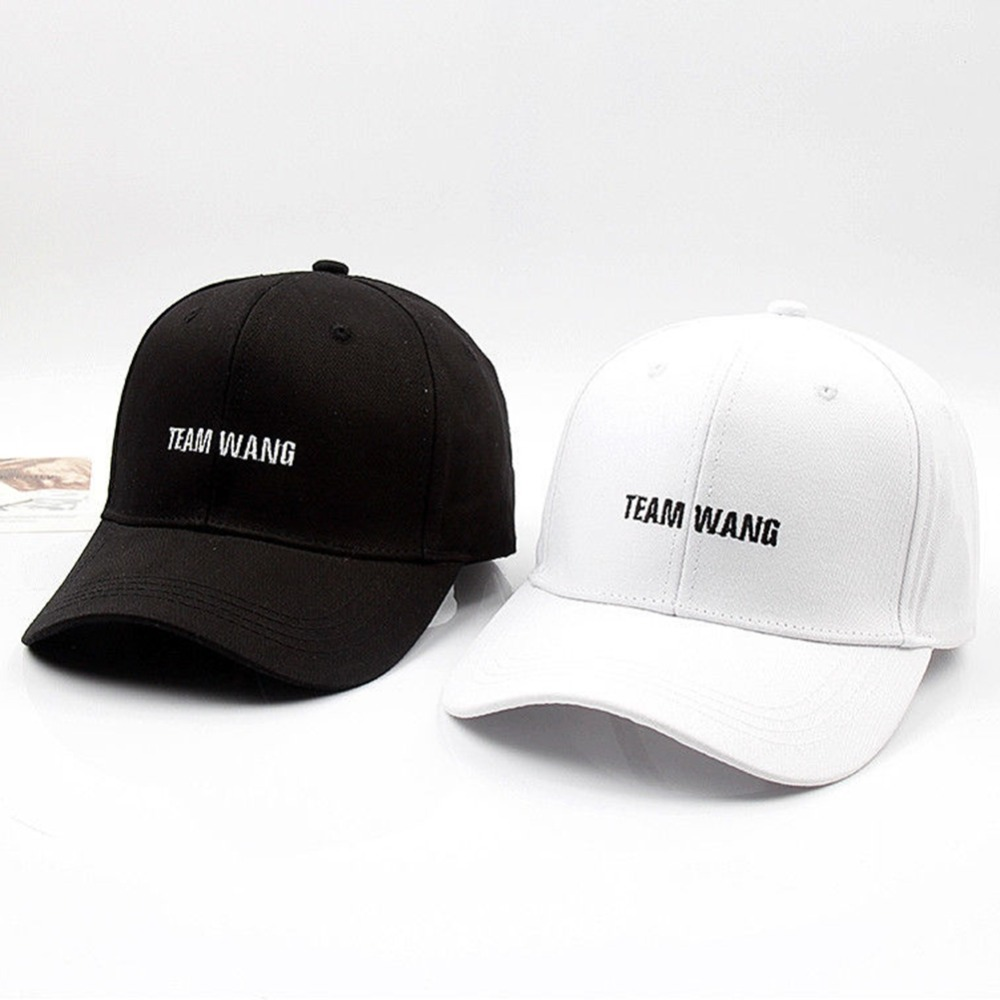 Stylish KPOP GOT7 Embroidery TEAM WANG Letters Hat For Women Men   Baseball     Caps   Unisex Casual Sports Hats Adjustable
