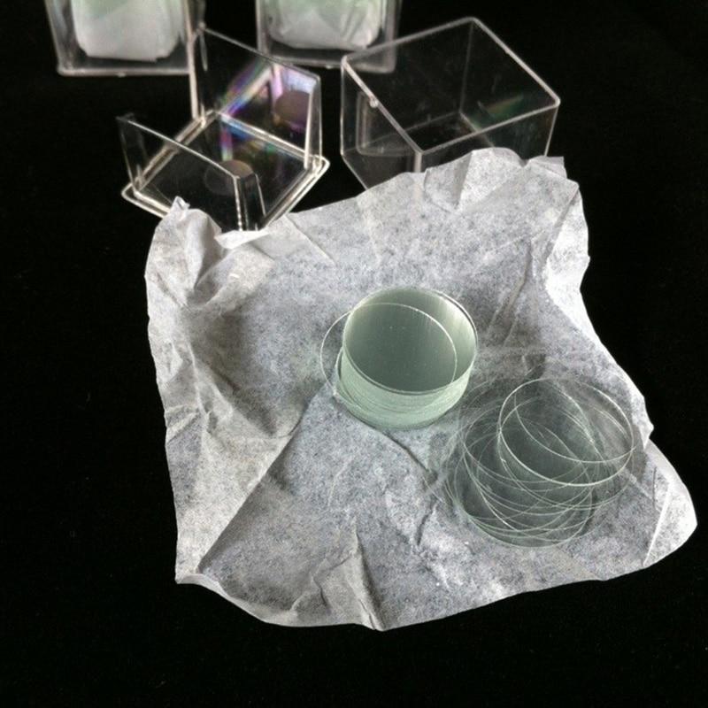 1 Caja 100pcs 14mm Microscopio redondo Cubierta deslizante de vidrio - Instrumentos de medición - foto 2