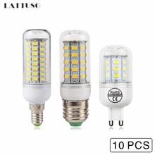 LATTUSO 10pcs LED Corn Bulb E27 SMD5730 Lampada E14 220V Chandelier Candle Lamp 24  48 56 69 72LEDs G9 Lights energy saving