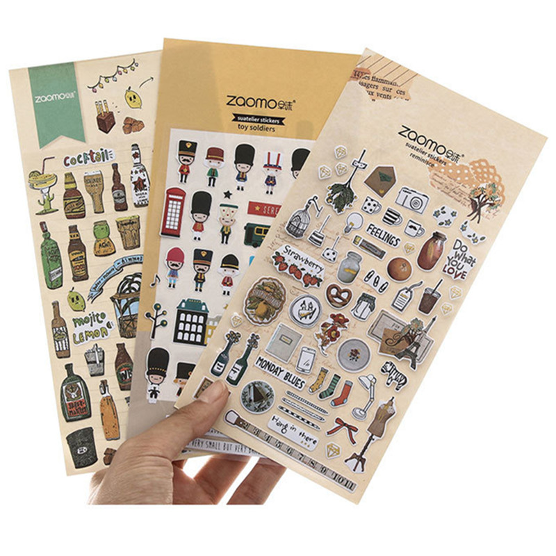 Soldiers Vintage Adhesive Diy Sticker Stick Label Notebook Album Diary Decor Student Stationery