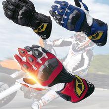 La Protección de la motocicleta de Carreras de Fibra de Carbono Cuero Taichi Moto Motocross Guantes de Ciclismo Dedo Completo Impermeable Guants Hombres Mujeres