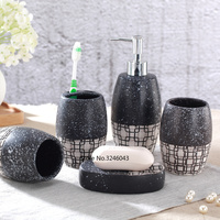 5/pcs porcelain bathroom set Japanese hand painted bathroom ceramic soap dispenser porcelain soap toothbrush holder home decor