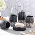 5/stücke porzellan bad set Japanischen hand bemalt bad keramik seife spender porzellan seife zahnbürste halter home decor-in Badezimmer Zubehör-Sets aus Heim und Garten bei