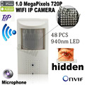 720P mini ip camera wifi 940nm led Security Network Camera Night vision camera PIR IR IP Camera PIR Motion Detector mini Kamera